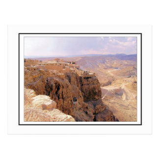 Una vista de Masada Tarjeta Postal