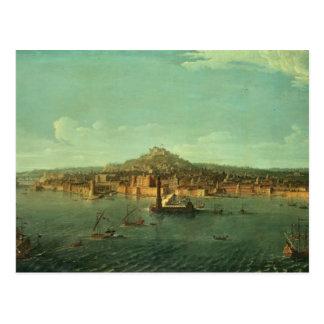 Una vista de Nápoles, siglo XVII Postal