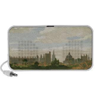 Una vista de Oxford (aceite en cartón para encuade Altavoces