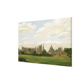 Una vista de Oxford (aceite en cartón para encuade Impresion En Lona