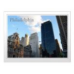 Una vista de Philadephia céntrico Postales