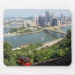 Una vista de Pittsburgh céntrica de Mt. Washington Alfombrillas De Ratón