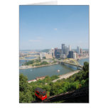 Una vista de Pittsburgh céntrica de Mt. Washington Tarjeta De Felicitación