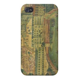 Una vista de Royal Palace, Bruselas iPhone 4 Fundas