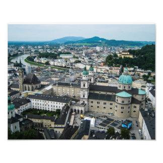 Una vista de Salzburg - impresión de la foto Fotografía