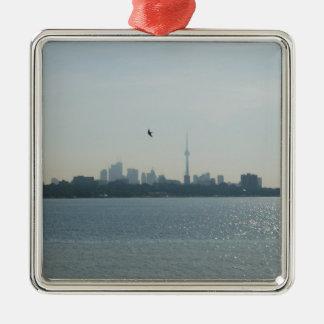 Una vista de Toronto Adorno Navideño Cuadrado De Metal
