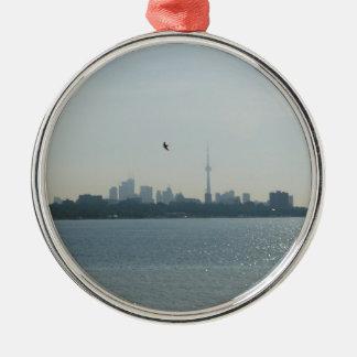 Una vista de Toronto Adorno Navideño Redondo De Metal