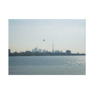 Una vista de Toronto envolvió la lona Lona Envuelta Para Galerías