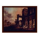 Una vista de un palacio del cristiano de Stöcklin Tarjetas Postales
