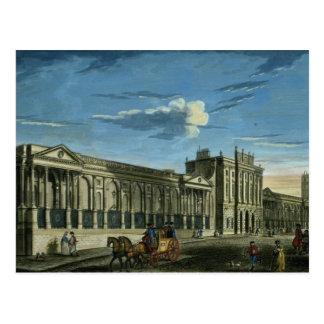 Una vista del Banco de Inglaterra, calle de Postales
