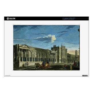 Una vista del Banco de Inglaterra, calle de Thread 38,1cm Portátil Calcomanía