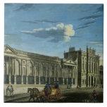 Una vista del Banco de Inglaterra, calle de Thread Azulejo Cuadrado Grande