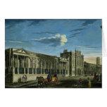 Una vista del Banco de Inglaterra, calle de Thread Tarjeta De Felicitación