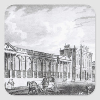 Una vista del Banco de Inglaterra Pegatina Cuadrada
