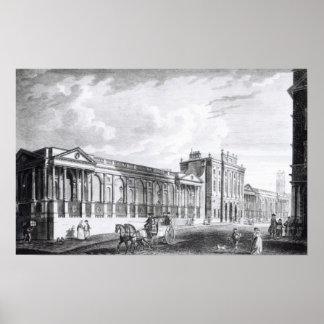 Una vista del Banco de Inglaterra Póster