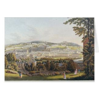 Una vista del baño, 1817 tarjeta de felicitación