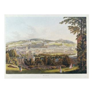 Una vista del baño, 1817 tarjeta postal