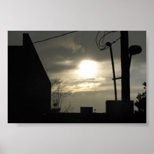 Una vista del cielo póster