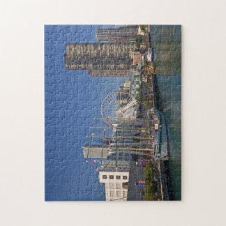 Una vista del embarcadero 2 de la marina de guerra rompecabezas con fotos