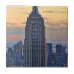 Una vista del Empire State Building, un NYC más ba Azulejo Cerámica