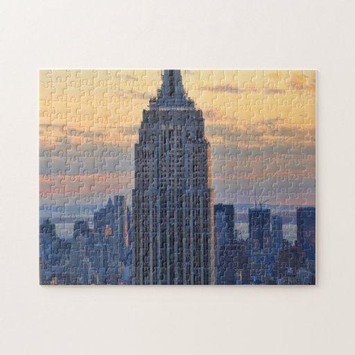 Una vista del Empire State Building, un NYC más ba Puzzle