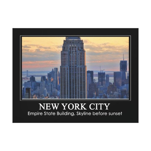 Una vista del Empire State Building, un NYC más Lona Estirada Galerias