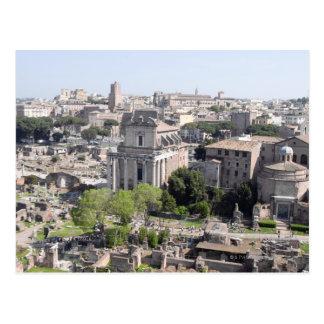 Una vista del fome del foro de Roma el Farnese Tarjetas Postales