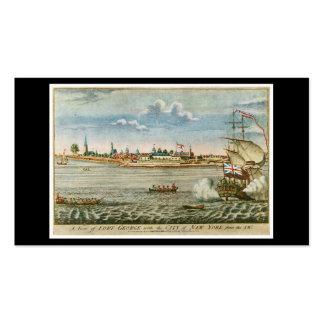 Una vista del fuerte George con la ciudad de Nueva Tarjetas De Visita