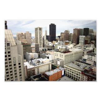 Una vista del horizonte famoso de San Francisco Fotografías