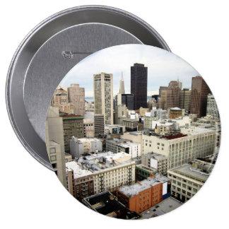 Una vista del horizonte famoso de San Francisco Chapa Redonda 10 Cm