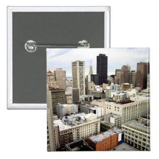 Una vista del horizonte famoso de San Francisco Chapa Cuadrada 5 Cm