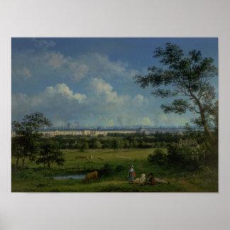 Una vista del parque del regente póster
