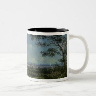 Una vista del parque del regente taza de café de dos colores