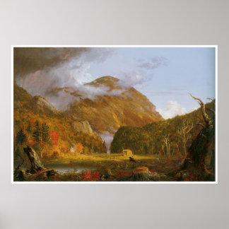 Una vista del paso de montaña llamó la muesca de póster