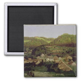 Una vista del pueblo de Tenniken, 1846 Iman De Frigorífico