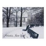 Una vista del puente de Hellgate, Astoria NY Postales