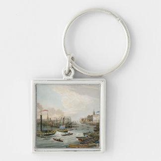 Una vista el puente de Londres y aduanas Llavero