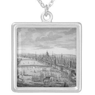 Una vista general de la ciudad de Londres Colgante Cuadrado
