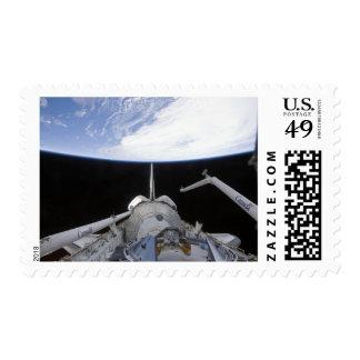 Una vista parcial del nodo de la tranquilidad sello postal