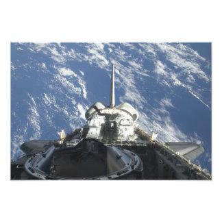Una vista parcial del transbordador espacial la impresiones fotográficas