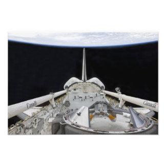 Una vista parcial del transbordador espacial fotografía