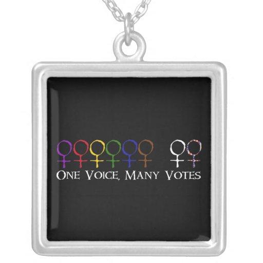Una voz, muchos votos grimpola personalizada