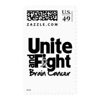 Una y luche al cáncer de cerebro franqueo