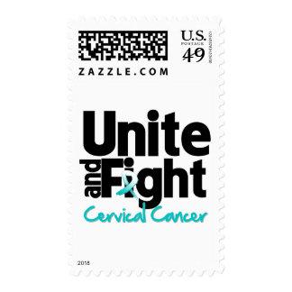 Una y luche al cáncer de cuello del útero sellos
