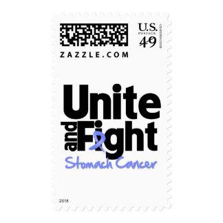 Una y luche al cáncer de estómago sello