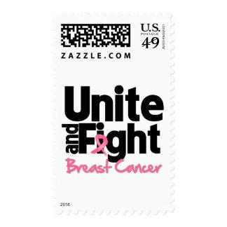 Una y luche al cáncer de pecho sellos