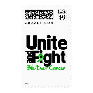 Una y luche al cáncer hepático sello