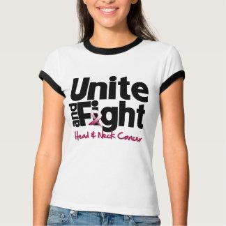 Una y luche el cáncer de cabeza y cuello t-shirt