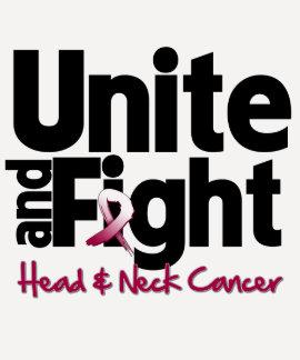 Una y luche el cáncer de cabeza y cuello tshirt