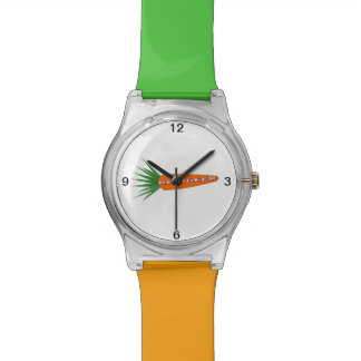 Una zanahoria para el reloj del reno del navidad